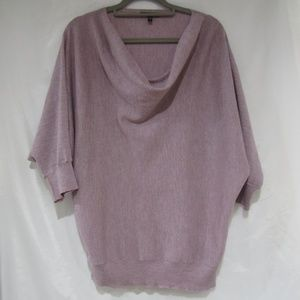 Eileen Fisher M Marled Wool Cowl Neck Sweater